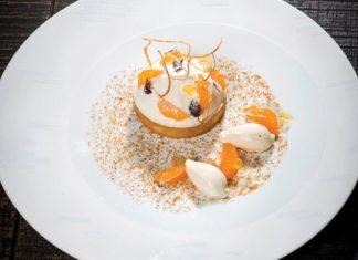 Michel SARRAN : Mandarine, glace et crème légère de panais
