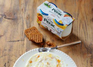 Cheese cake au yaourt de brebis à la pêche Lou Pérac et au citron