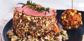 Mignons de veau, cromesquis noisette, Duxelles de champignons et sauce Chaource