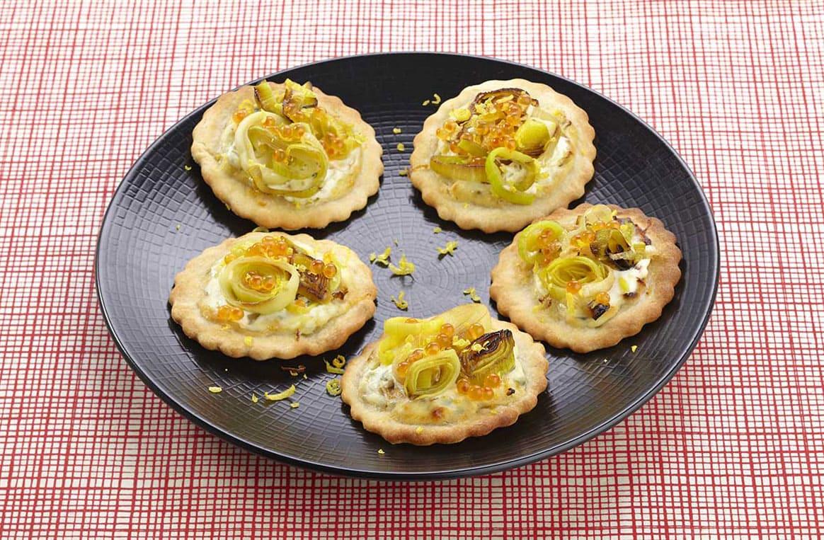 Mini tartelettes saumon et poireaux